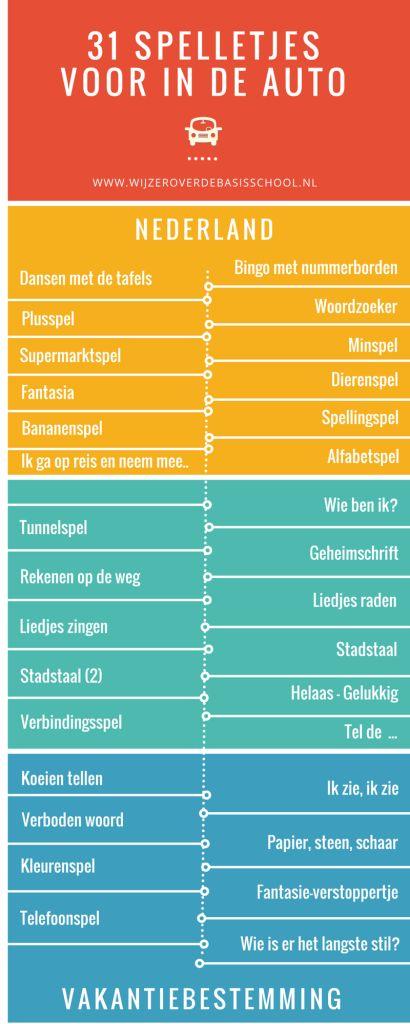 31 spelletjes voor onderweg - www.wijzeroverdebasisschool.nl. vakantie met kinderen reizen