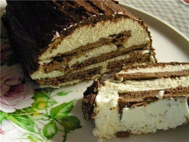 Сметанно-творожный торт без выпечки