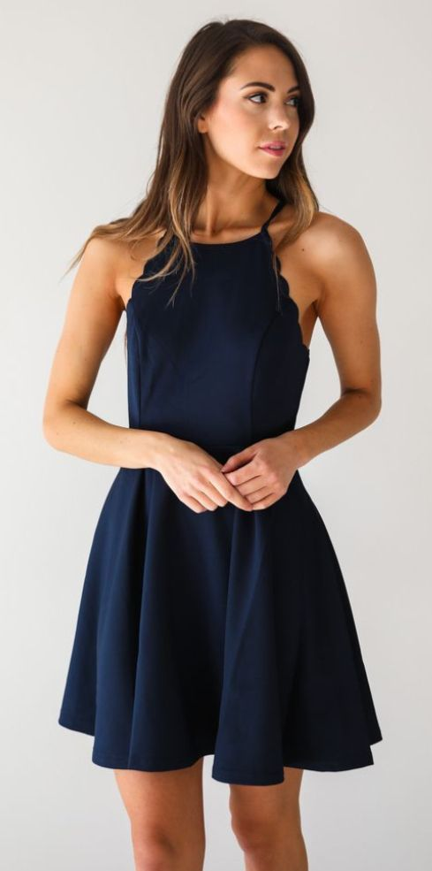 09d3b4d83181 This kind of style dress in either light blue or this dark blue please!