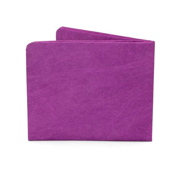 Paper-Thin Wallet Unisex for Men & Women - Solid Purple Design - Made in Tyvek - Eco-friendly and 100% Recyclable