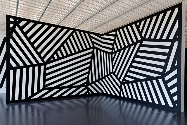 Expo Sol LeWitt Centre Pompidou Metz. Reminds me of razzle dazzle camouflage.