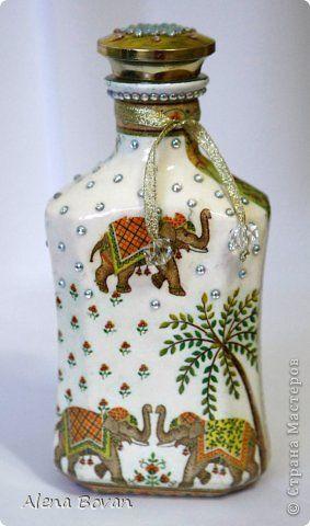 Декор предметов Декупаж ДЕКУПАЖ бутылочки новые и старые  Бутылки стеклянные Салфетки фото 61