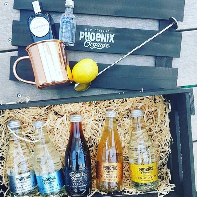 A beautiful crate full of goodies for our friends #keepyourspiritshappy 📷@threadnz @roguesocietygin