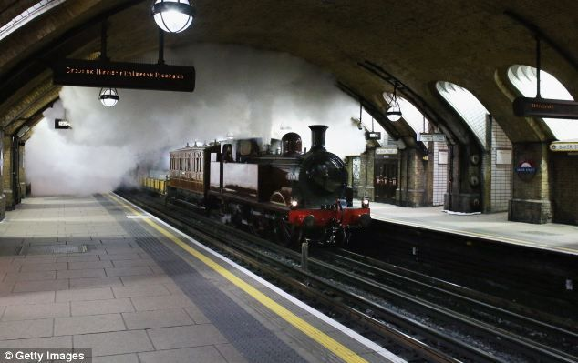 Celebrating steam in London's Underground! Shortly after 1pm on January 9 in 1863 the inaugural train pulled out of Paddington station to begin a 3.5mile journey under the capital's streets and into the history books...  From...  http://www.dailymail.co.uk/news/article-2249372/Steam-train-returns-London-Underground-time-century-mark-150-years-Tube-opened.html#