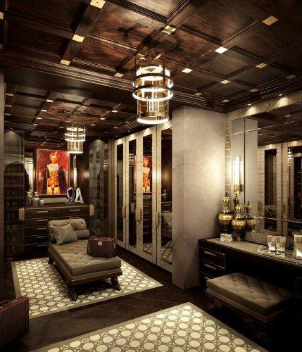 Modern luxury walk-in closet #homedecorideas #interiordesign #bedroom luxury homes, bedroom ideas, luxury design . See more inspirations at homedecorideas.eu/