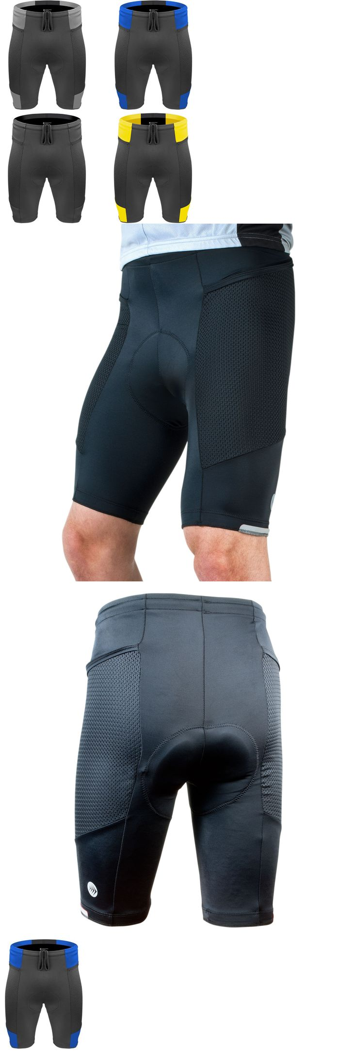 Shorts 177853: Mens Gel Padded Cycling Shorts Touring Bike Short Cyling Gear Usa Made -> BUY IT NOW ONLY: $79.99 on eBay!