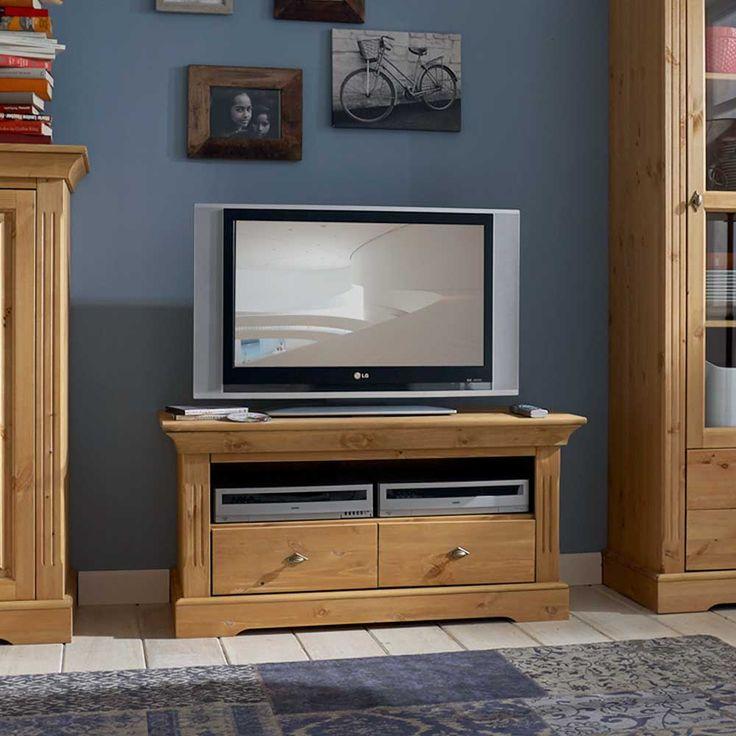 TV Tisch Aus Kiefer Massivholz Landhaus Jetzt Bestellen Unter Moebelladendirektde Wohnzimmer Tv Hifi Moebel Lowboards Uid6ddec83d 742b 551a