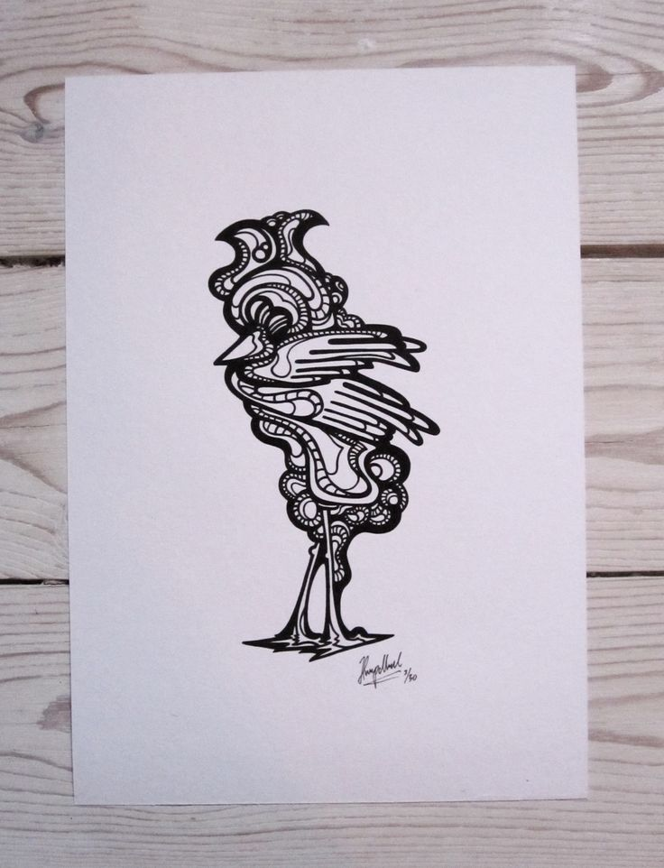 """Rooster"" by hurupmunch  Printed illustration on akvarel paper A4: Dkk 150,-"