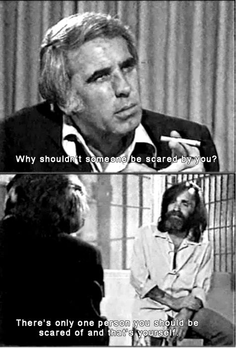 Charles Manson, one of America's most famous serial killer, this image shows the…