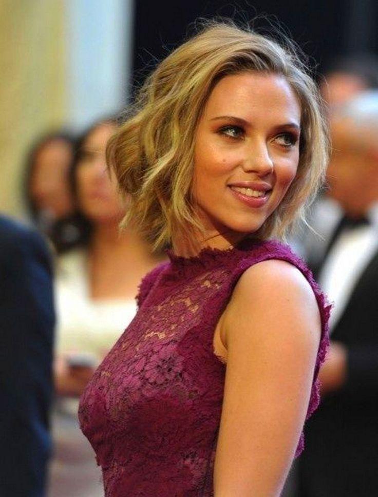 Scarlett Johansson unveils new bob after cutting off
