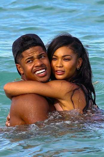 Celebrity PDA of 2017 - December 11, 2017:  Model Chanel Iman and boyfriend Sterling Shepard packed on the PDA while vacationing in Miami on July 5.