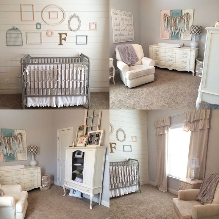 Adorable baby girl's nursery in neutral and soft colors