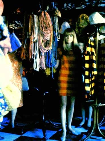 In the BIBA store, I remember all the clothes where just hung on coat stands