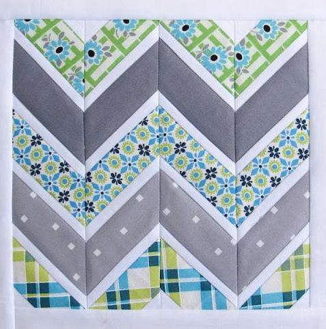 Free Quilting Pattern Friday: Chevron Quilt Block Pattern & More