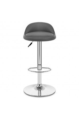 240a5e269de5 Bringing modern panache to your home with ease, the Lulu Bar Stool Grey is  the
