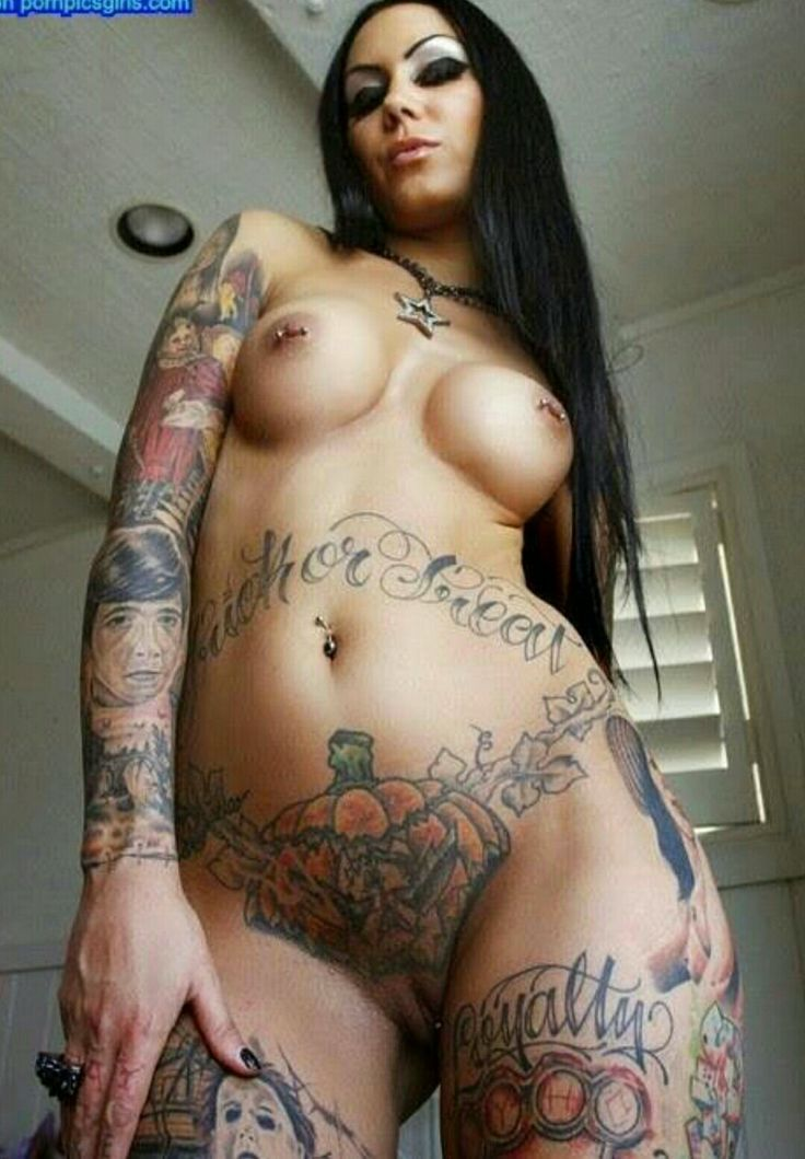 Only nude girls with full frontal body tattoos