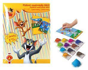 Pískové omalovánky, ideální aktivita i pro nejmenší děti. Děti si zdokonalují jemnou motoriku, zatímco vybarvují obrázek barevným pískem.