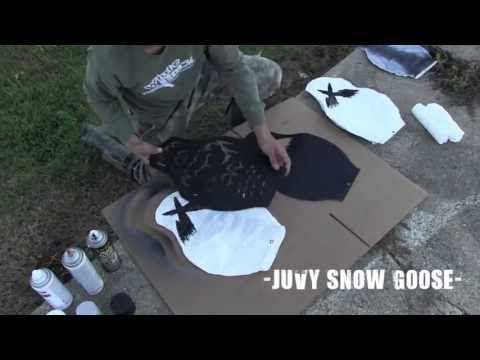 How to Paint Snow and Blue Goose Windsock Decoys - White Rock Decoys - YouTube