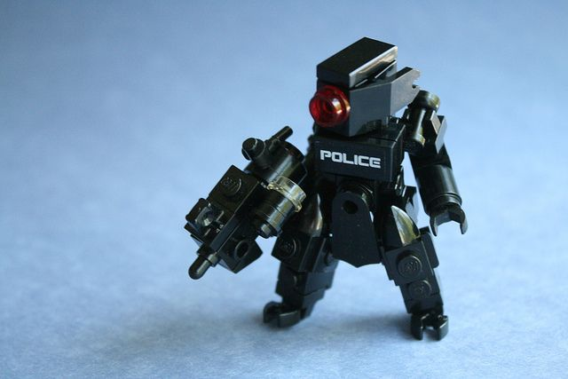 Cyberpunk Police Hardsuit [Black] by |CoIor|, via Flickr