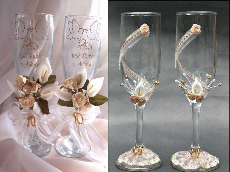 25 best ideas about copas decoradas para boda on for Copas de champagne