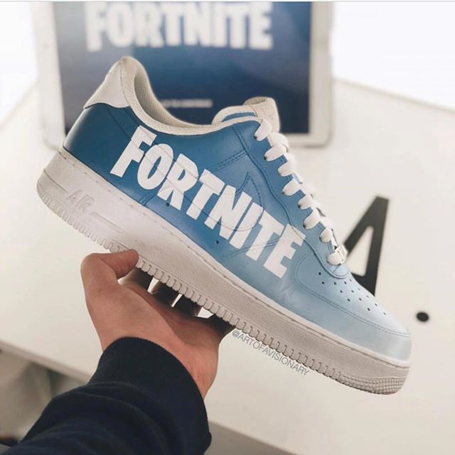 8b1b925e5a3 Nike Air Force 1 Low Fortnite by  artofavisionary  nike  air  force ...