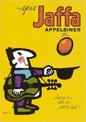 Jaffa oranges poster by Ib Antoni (1929-1973), Danish artist.
