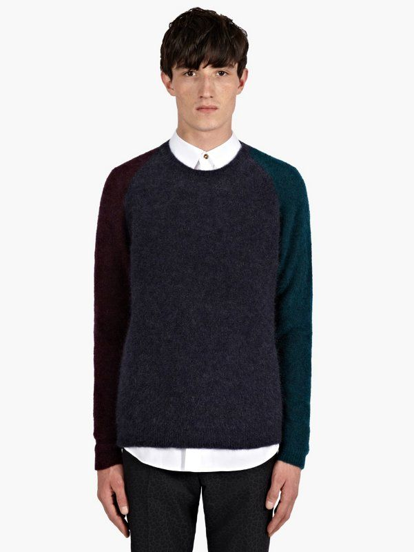 Paul Smith Men's Colour Block Wool-Mohair Jumper | oki-ni