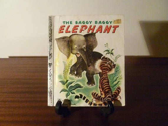 "$5  Vintage 1974 Book ""The Saggy Baggy Elephant"" - A little Golden Book / Kids Book /"