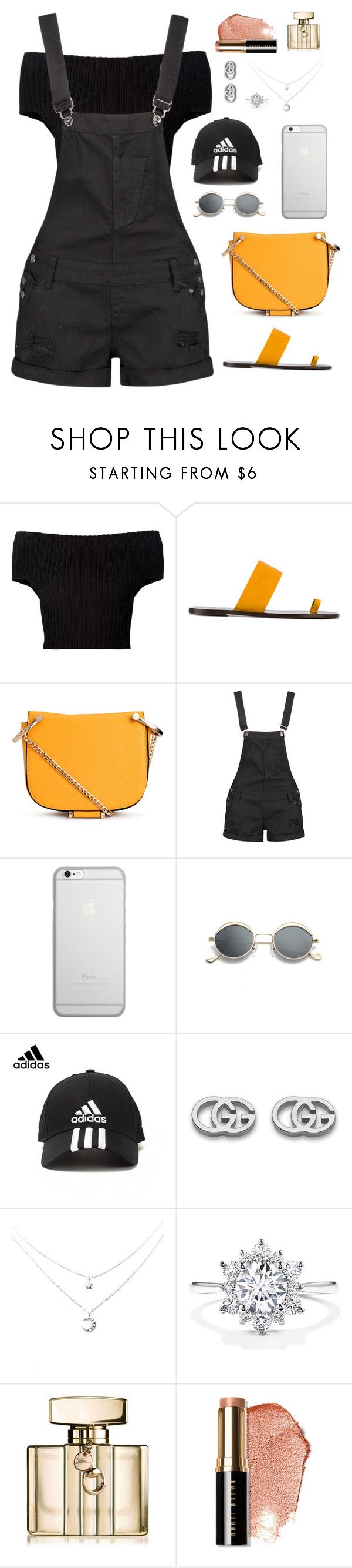 """""""Untitled #1948"""" by r-redstall ❤ liked on Polyvore featuring Calvin Klein Collection, All Tomorrow's Parties, Boohoo, Native Union, adidas, Gucci and Bobbi Brown Cosmetics"""