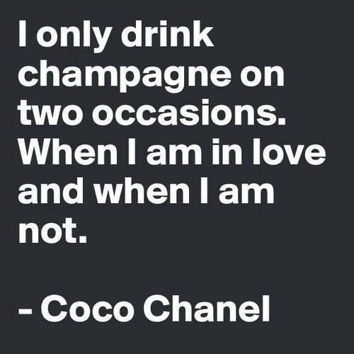 """I only drink champagne..."""