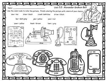 Reading Street Common Core (2013) FREEBIE Unit 5.5 Alexander Graham Bell Color by Word SpellingI hope you enjoy this free color by word designed to be used with the first grade Reading Street Common Core story ALEXANDER GRAHAM BELL.  I hope your students enjoy this Reading Street supplemental resource.Thank you!Learning With A SmileReading Street Supplement, Alexander Graham Bell, Free Reading Street Supplement, Spelling Color-by-Word