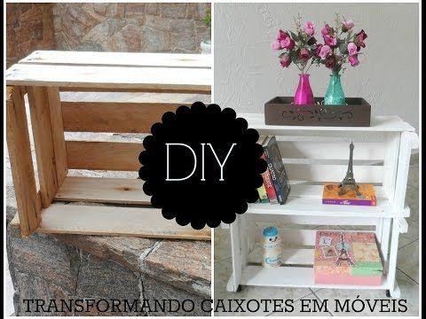DIY: COMO TRANSFORMAR CAIXOTES DE FEIRA EM MÓVEL FOFO E VERSÁTIL, My Crafts and DIY Projects