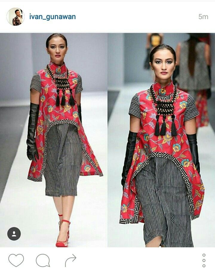 Ethnic statement on Ivan Gunawan 's fashion show