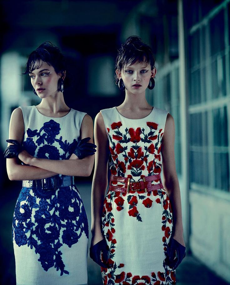Kinga Rajzak and Daga Ziober in Hungarian-themed clothes