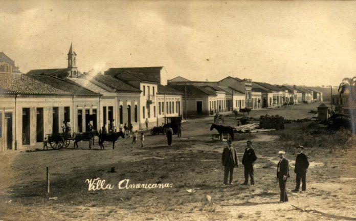 A Villa Americana em 1906, embrião do que viria a ser a cidade de Americana, em SP (Reprodução)