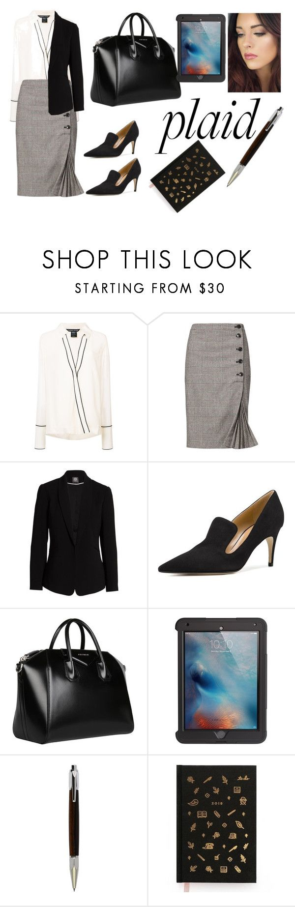 """""""Plaid office"""" by zonecoquette ❤ liked on Polyvore featuring Thomas Wylde, Vince Camuto, Givenchy, Griffin, RIFLE and today"""