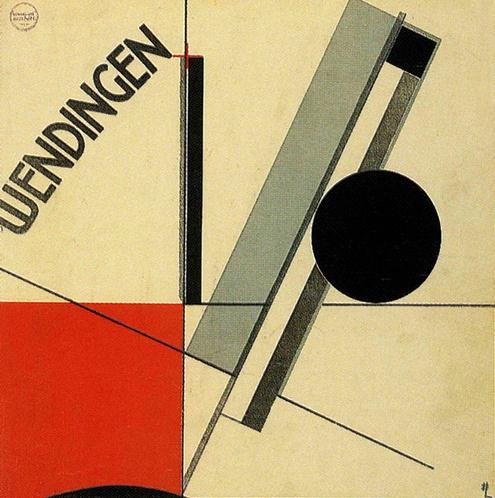 By El Lissitzky, 1921, Constructivist cover.(D)