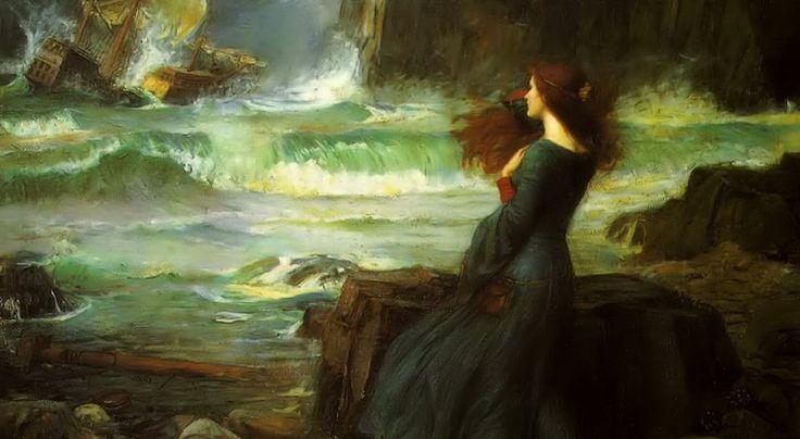 John William Waterhouse- Miranda-the tempest