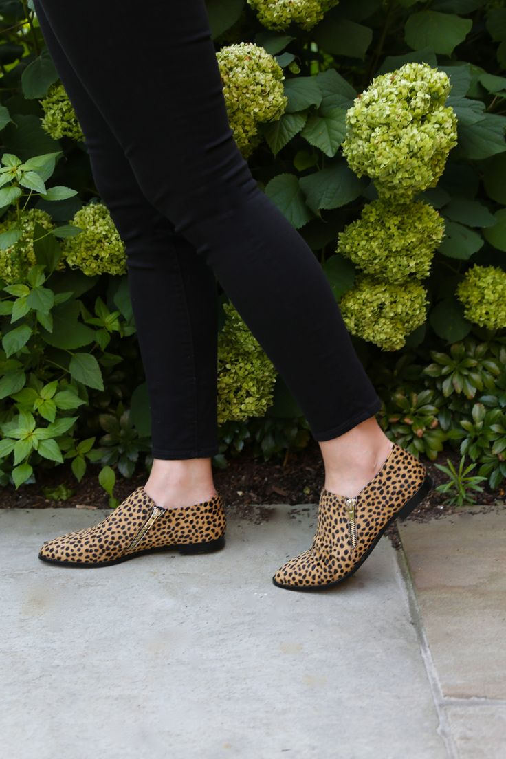 Obsessed with the zipper detail on these cheetah print loafers! | Sole Society Birch