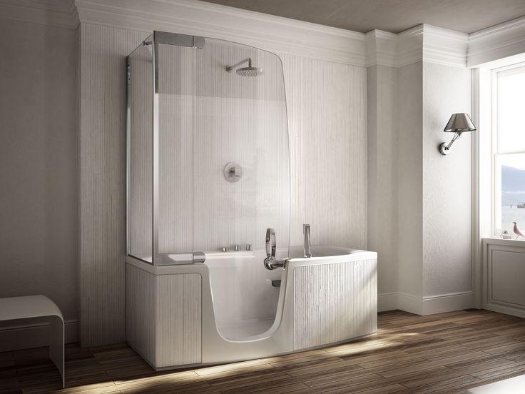 Con i modelli combinati di vasca + box doccia si coniugano in un unico prodotto due funzioni, molto utili se il bagno è di dimensioni ridotte.