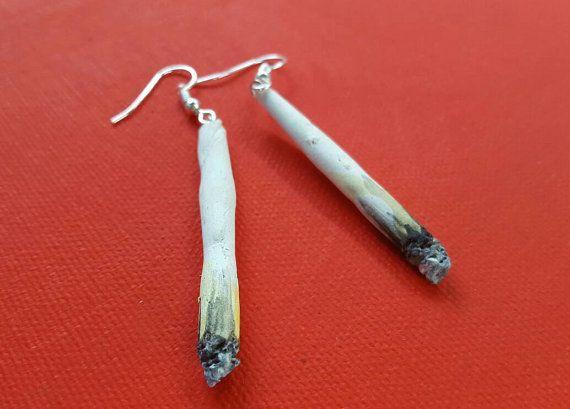 Marijuana joints stoner gifts weed weed jewelry accessories hippie hipster pothead cannabis ganja jewelry 420 spliff joint bluntv – Schmuck