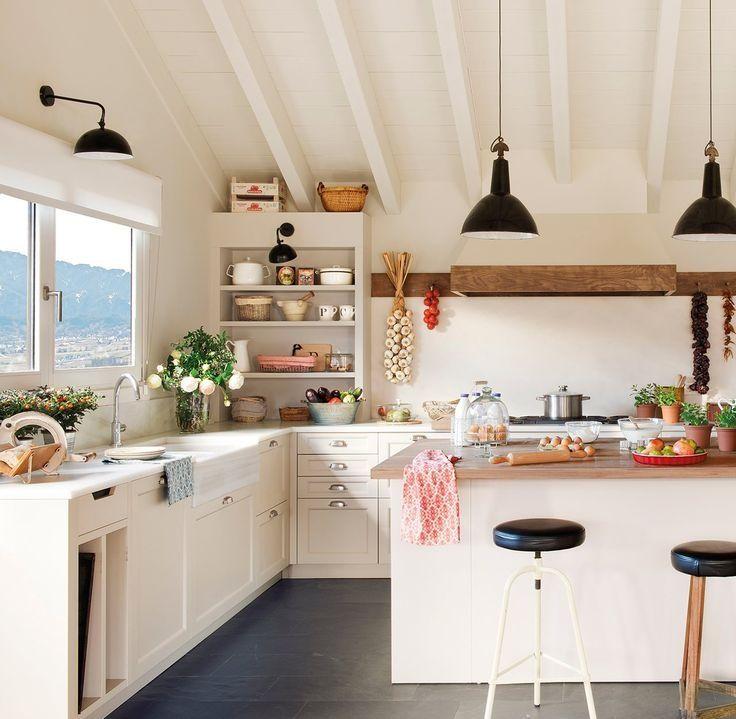 Muebles de cocina sobre encimera cocina pinterest for Muebles de cocina df