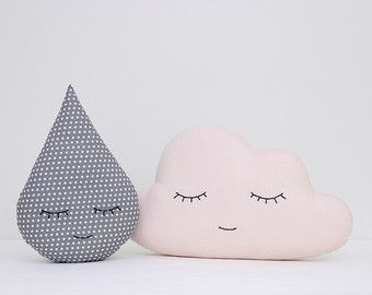 Set of moon and star pillows light pink and gray pillows