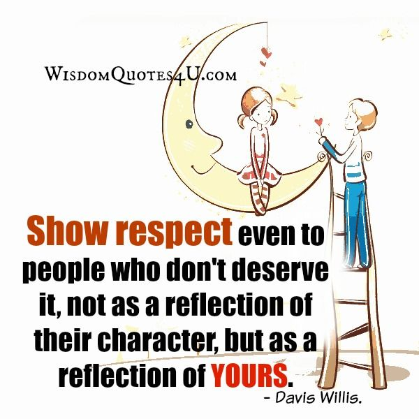 essay on how to respect others Respect has great importance in everyday life as children we are taught (one hopes) to respect our parents, teachers, and elders, school rules and traffic laws, family and cultural traditions, other people's feelings and rights, our country's flag and leaders, the truth and people's differing opinions.