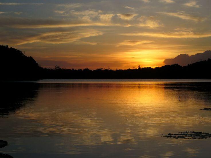 The sun sets over the Rupununi River near Karanambu Lodge in southwestern Guyana.
