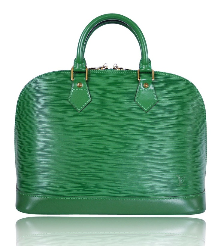 Louis vuitton green epi alma bag bags pinterest for Louis vuitton miroir bags