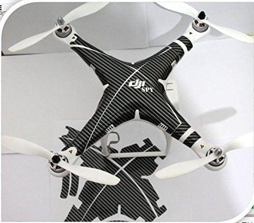 Carbon spy Decal skin wrap sticker Compatible with DJI Phantom 2 vision,Phantom 1 Quadcopter Accessory