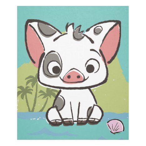 Moana | Pua The Pot Bellied Pig  Fleece Blanket #cute #kids #blankets #kidsrooms