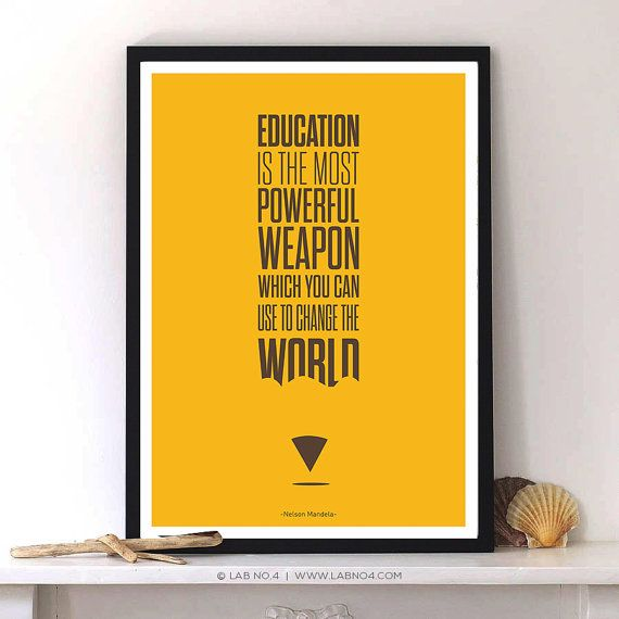Education is the most powerful weapon - #Nelson Mandela #Educational #Inspirational #Quotes