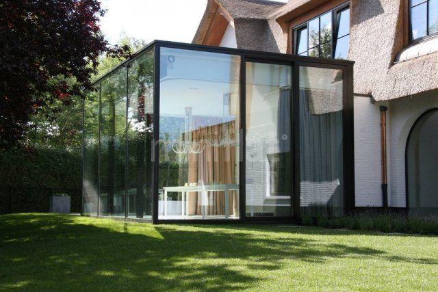 Moderne veranda in staal  Strakke Glassflat